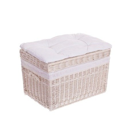 white wash shabby chic wicker storage basket hampers laundry baskets tytu sklepu zmienisz. Black Bedroom Furniture Sets. Home Design Ideas