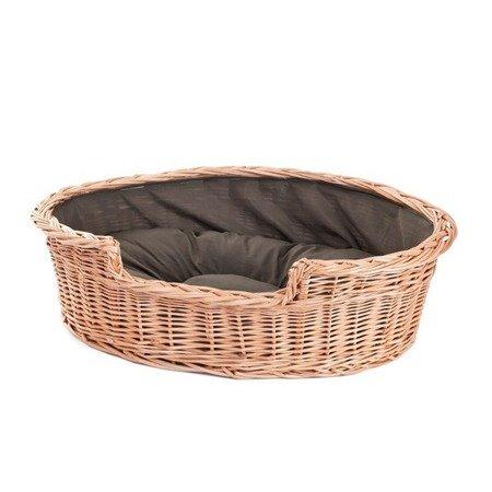 runde katzenh tte in beige katzenkorb aus weide. Black Bedroom Furniture Sets. Home Design Ideas