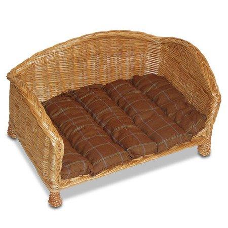 rechteckiger hundekorb katzenkorb aus weide mit einem kissen k rbe f r tiere tytu sklepu. Black Bedroom Furniture Sets. Home Design Ideas