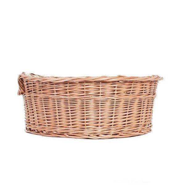 Handmade Wicker Dog Basket : Handmade wicker pet basket beds for dogs cats white